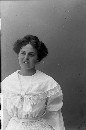 """Enligt fotografens journal nr 1 1904-1908: """"Carlén, Fr. Elsa Hellungens förråd St-sund""""."""