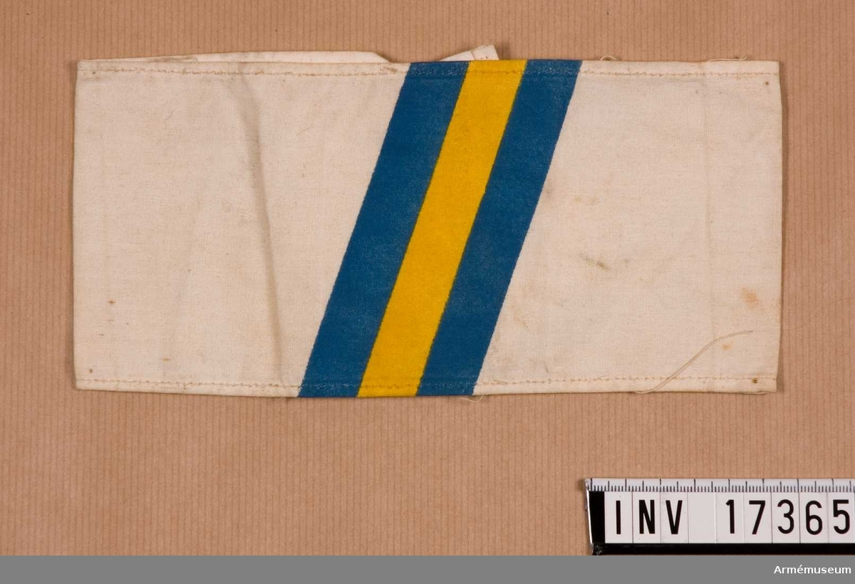 Armbindel.Grupp C I.För deltagare i Svenska Brigaden, Finland 1918.