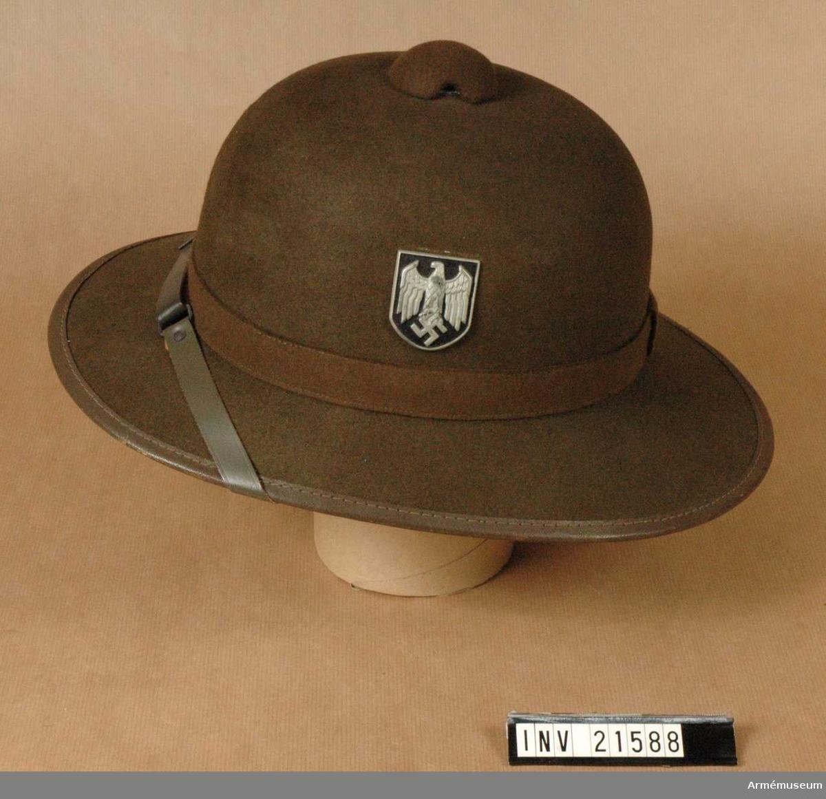 "Grupp C I. Tropikhjälm, Tyskland. 1941-43. ""Rommels-Afrika-kår""."