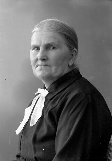 """Enligt fotografens journal nr 6 1930-1943: """"Larsson, Fru Julia St. Höga""""."""