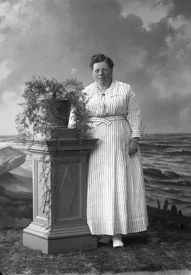 """Enligt fotografens journal nr 4 1918-1922: """"Nilsson, Fr. Anna Sveatryckeriet Gbg""""."""