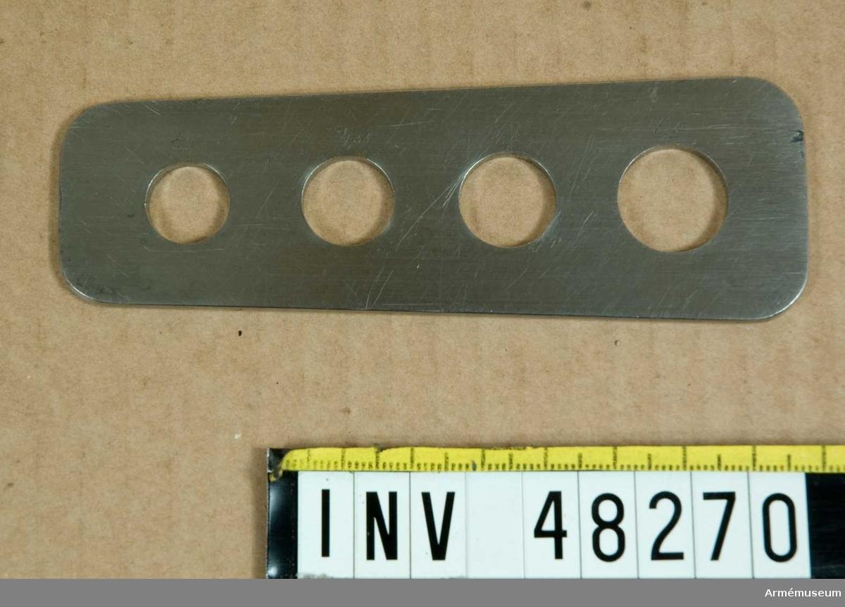 Samhörande nr är 48269-70, tolk, brilla.Brilla.    Grupp E VIII. ör utfräsning av bakladdningsgevär m/1867, enligt Remingtons system.
