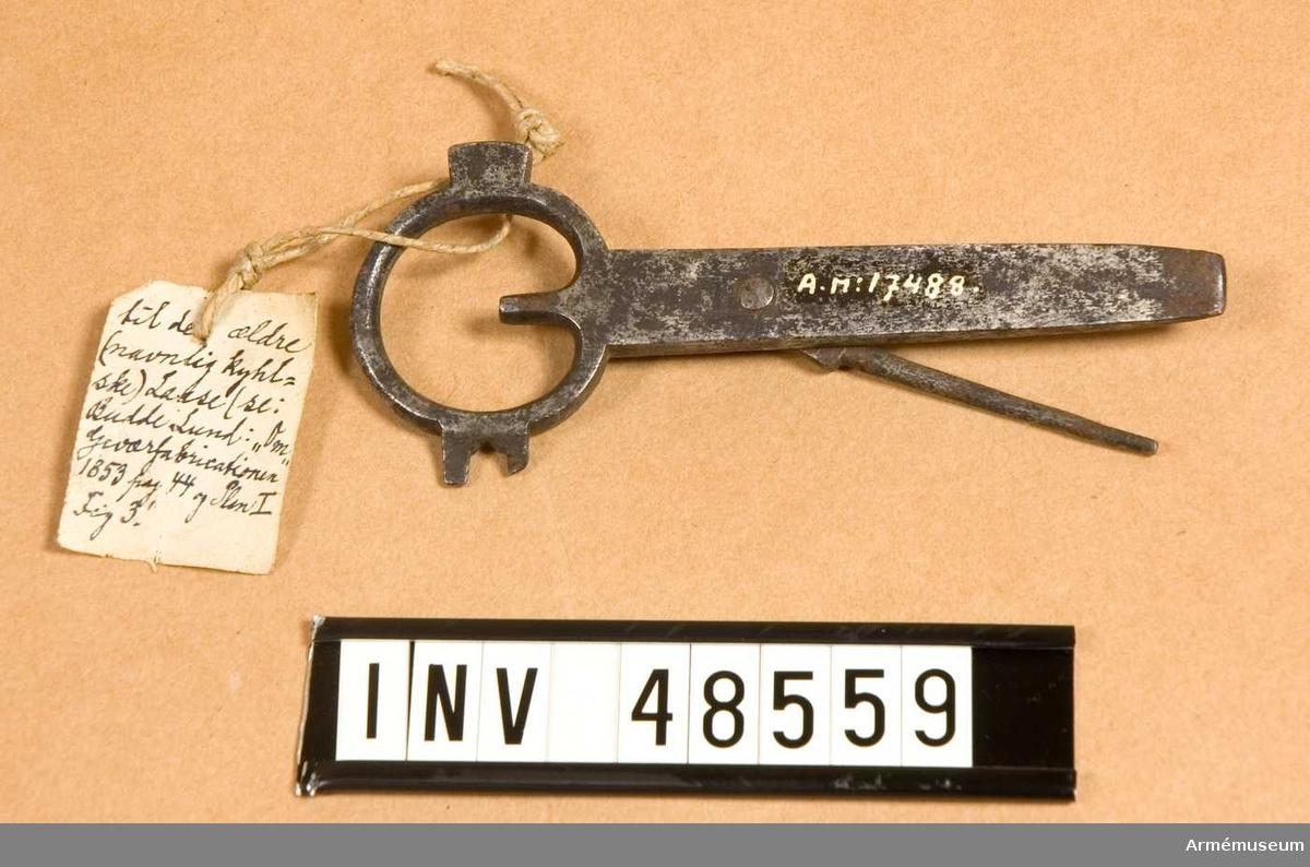 Grupp E VIII. Text enligt vidhängande lapp: dansk stiftudslaaer efter den sidste 1838 approberade model