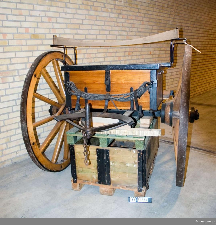 Grupp F I.  Föreställare med tistel till 8 cm framladdningskanon m/1863 1872 års projekt.