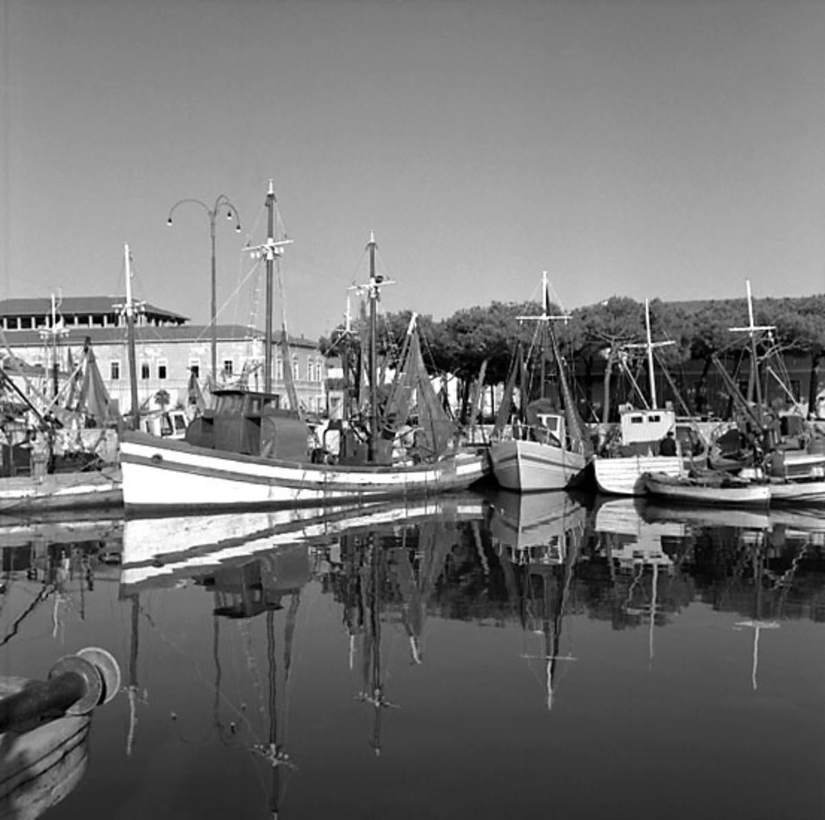 22. Italien. Fotojournal finns på B.M.A. + fotoalbum. Samtidigt förvärv: Böcker och arkivmaterial. Foton tagna mellan 1959-11-02 och 1959-11-04.  12 Bilder i serie.