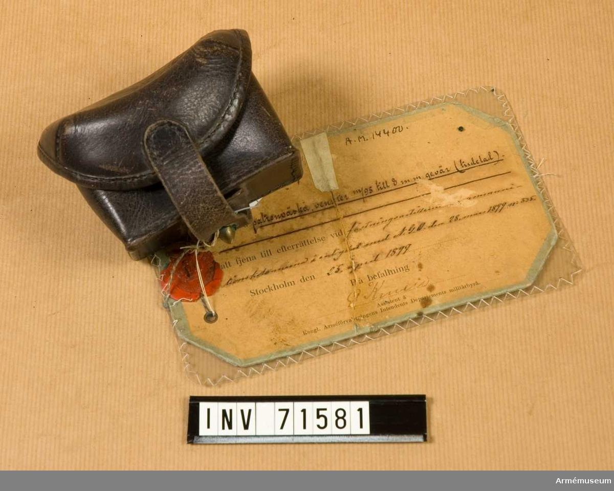 Grupp C:II. Inkom den 19/11 1934. Från Arméns intendenturförråd i Stockholm.