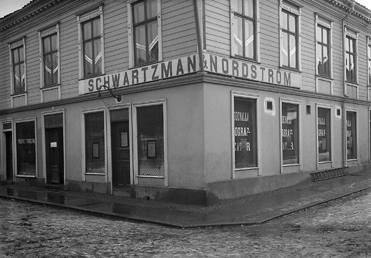 Schwartzman & Nordströms första fabriksbyggnad, omkring  1906