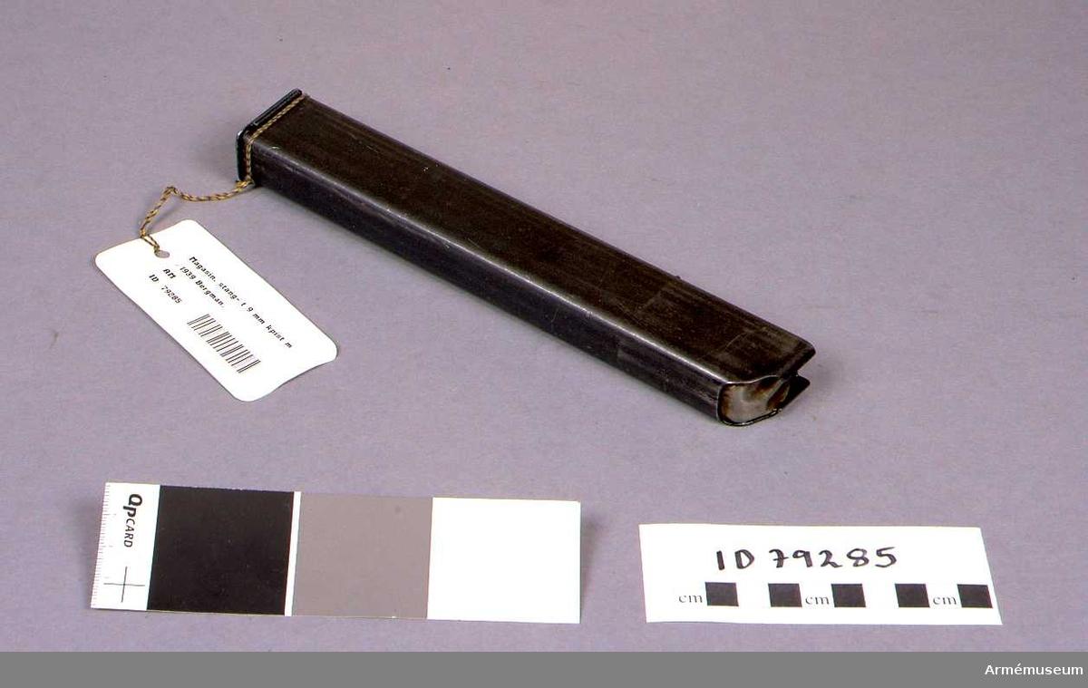Magasin, stång- till 9 mm kulsprutepistol m/1939 Bergman.