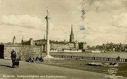 Notering på kortet: Stockholm. Stadshusträdgården med Engelb