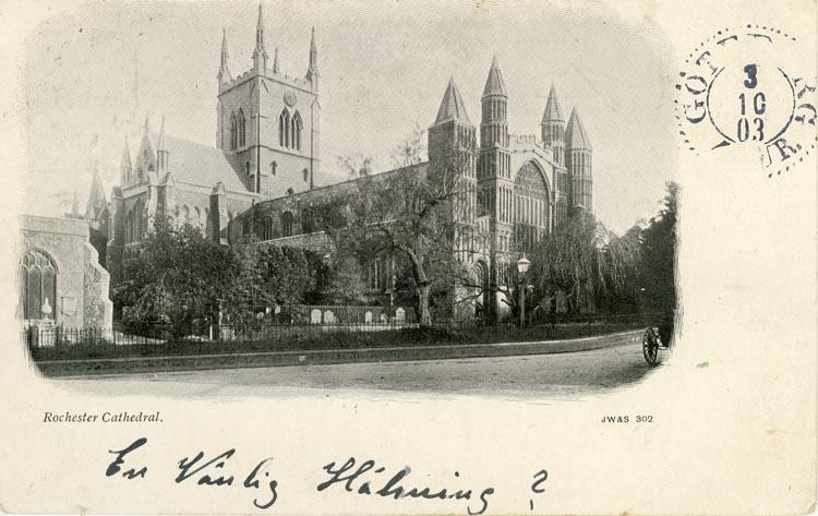 Notering på kortet: Rochester Cathedral.