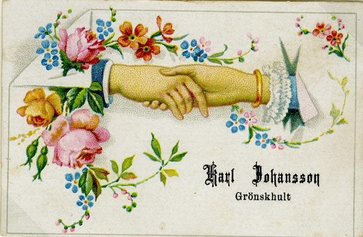 Namn på kortet: Karl Johansson Grönskhult.