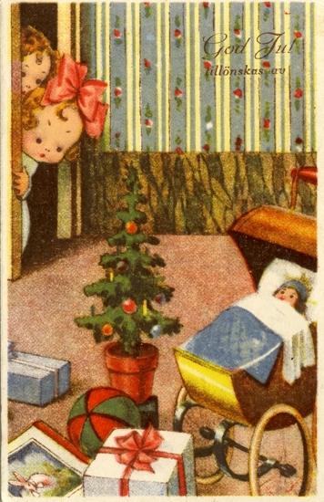 Notering på kortet: God Jul tillönskas av
