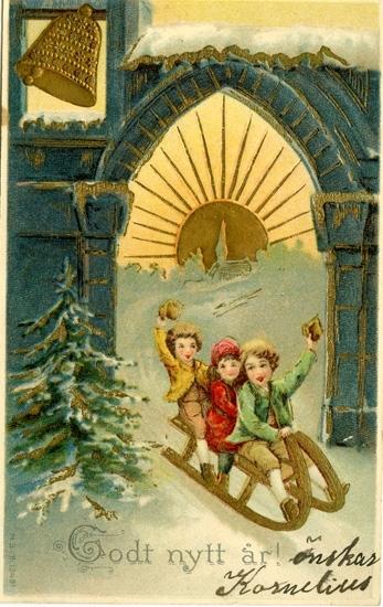Notering på kortet: Godt Nytt År!