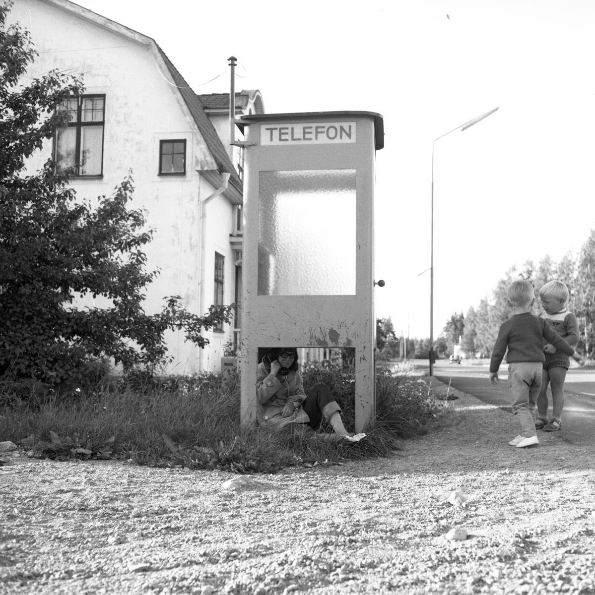 Telefonkiosk i Huskvarna.1950-tal.