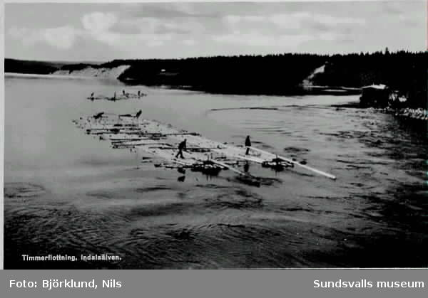 Timmerflottning Indalsälven. Svartviks norra såg