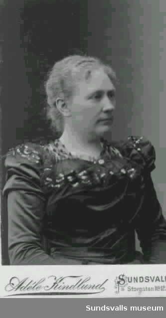 Anna Knaust, hotell Knaust chef åren 1907 till 1917. Hustru till Adolf Fredrik Knaust.