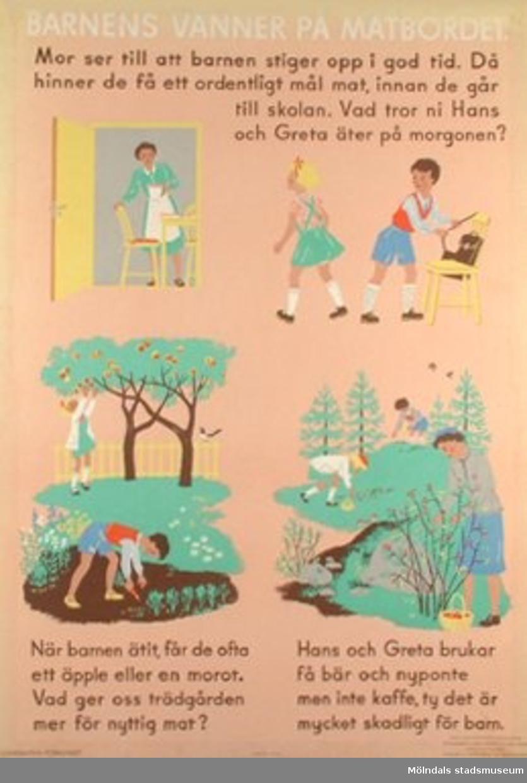 Hälsovårdsplansch sammanställd av Maja Nordlund och Jenny Ronàld. Tecknad av Eva Forss-Billow.