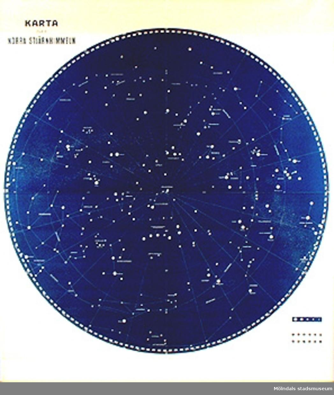 Skolkarta märkt nr 4.Norra stjärnhimlen.