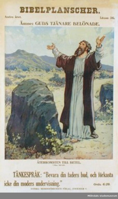 Kristendomskunskap.Bibelplanscher: Guds tjänare belönade. Återkomsten till Betel (1 Mos. 35:1-15).