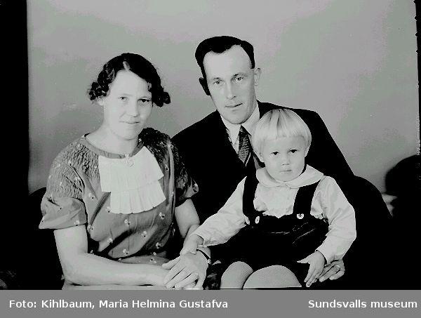 Porträtt. Fam. Söderholm i Sidsjö.