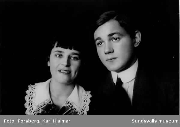 Porträtt av Hilda Söderström och Einar Häggström.