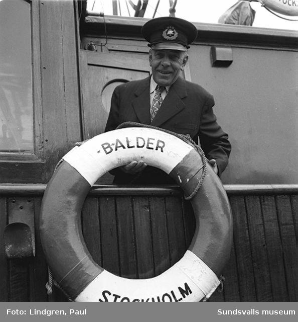 Båt M/S Balder Stockholm.4 st bilder oreg.