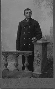 Uniform för brevbärare, 1890-talet.
