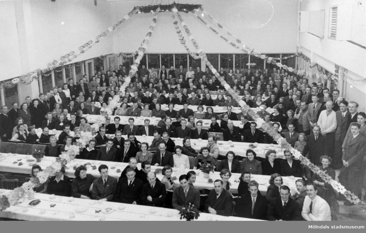 Luciafest för personalen vid August Werner 1949.