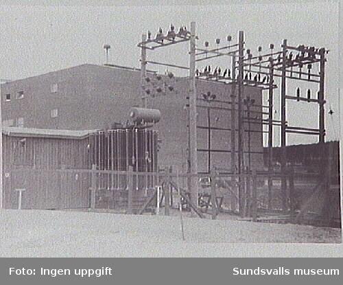 Ställverk i den provisoriska Västra station med transformator 20/6 kV/4 MVA.