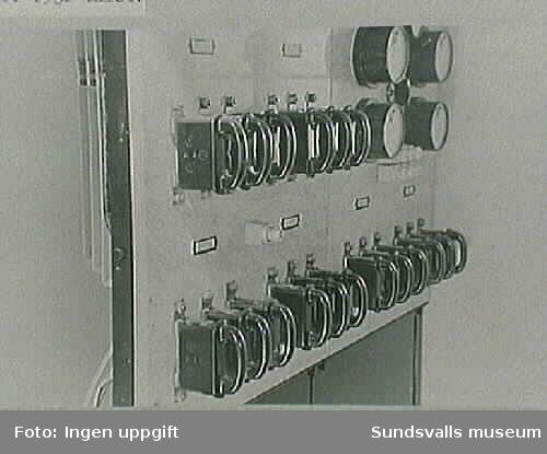 Interiör fr Norrmalms transformatorstation, omkring 1930.