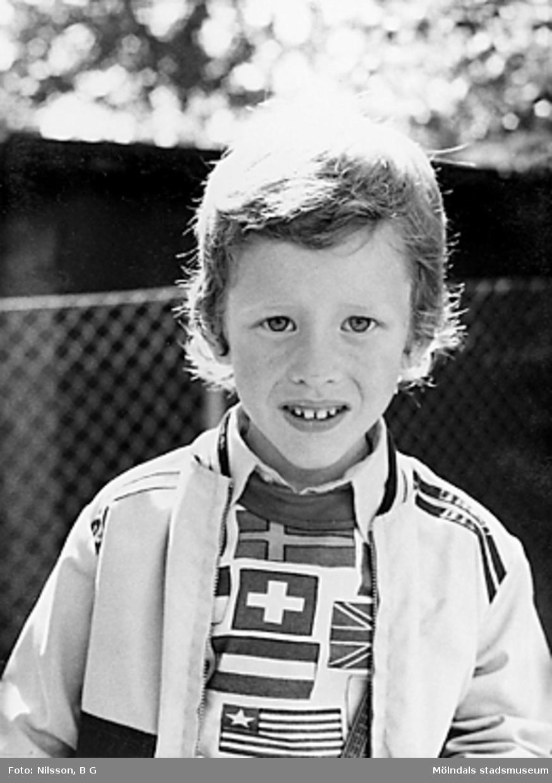 En pojke. Holtermanska daghemmet juni 1973.