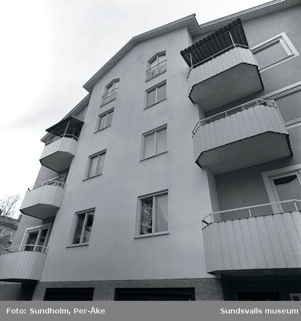 Inventering av 1940- och 50- talsområden. Bragegatan 15, 19.