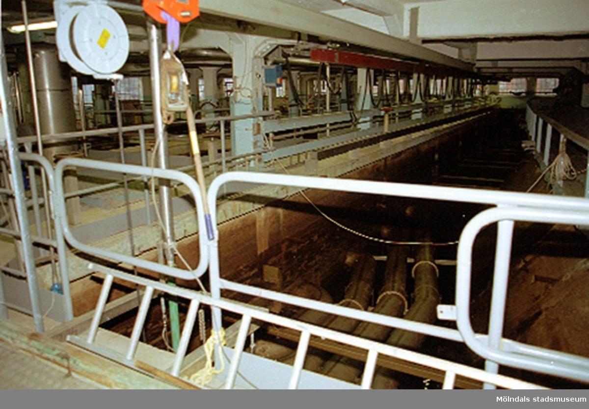 Vattenfilter för processvatten i vattenreningsanläggningen. Papyrusinventeringen 2001-11-06.