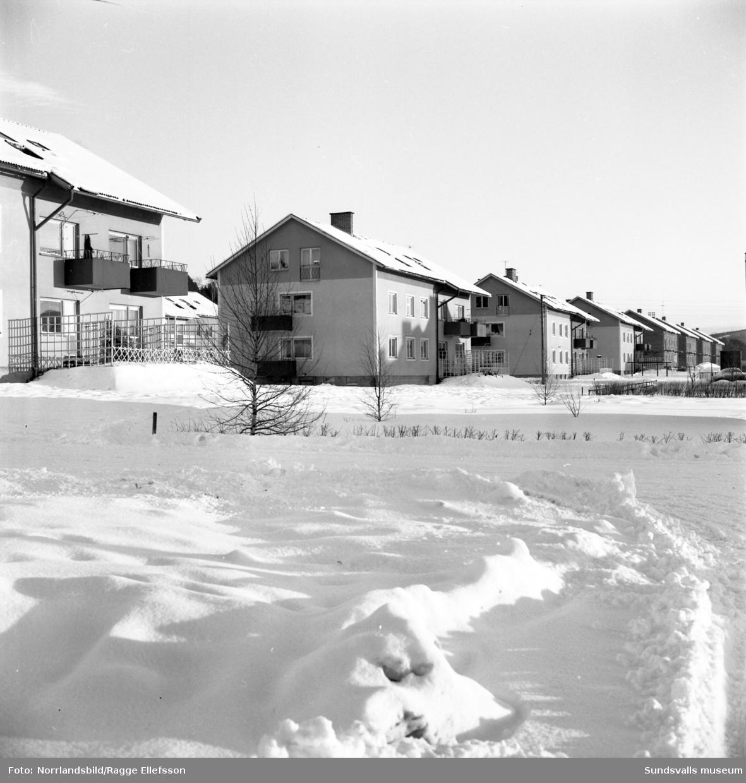 Nya åttafamiljshus i Granlo.