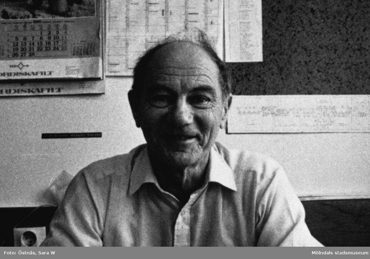 Erik Öberg, skiftförman på Papyrus i Mölndal, år 1990.