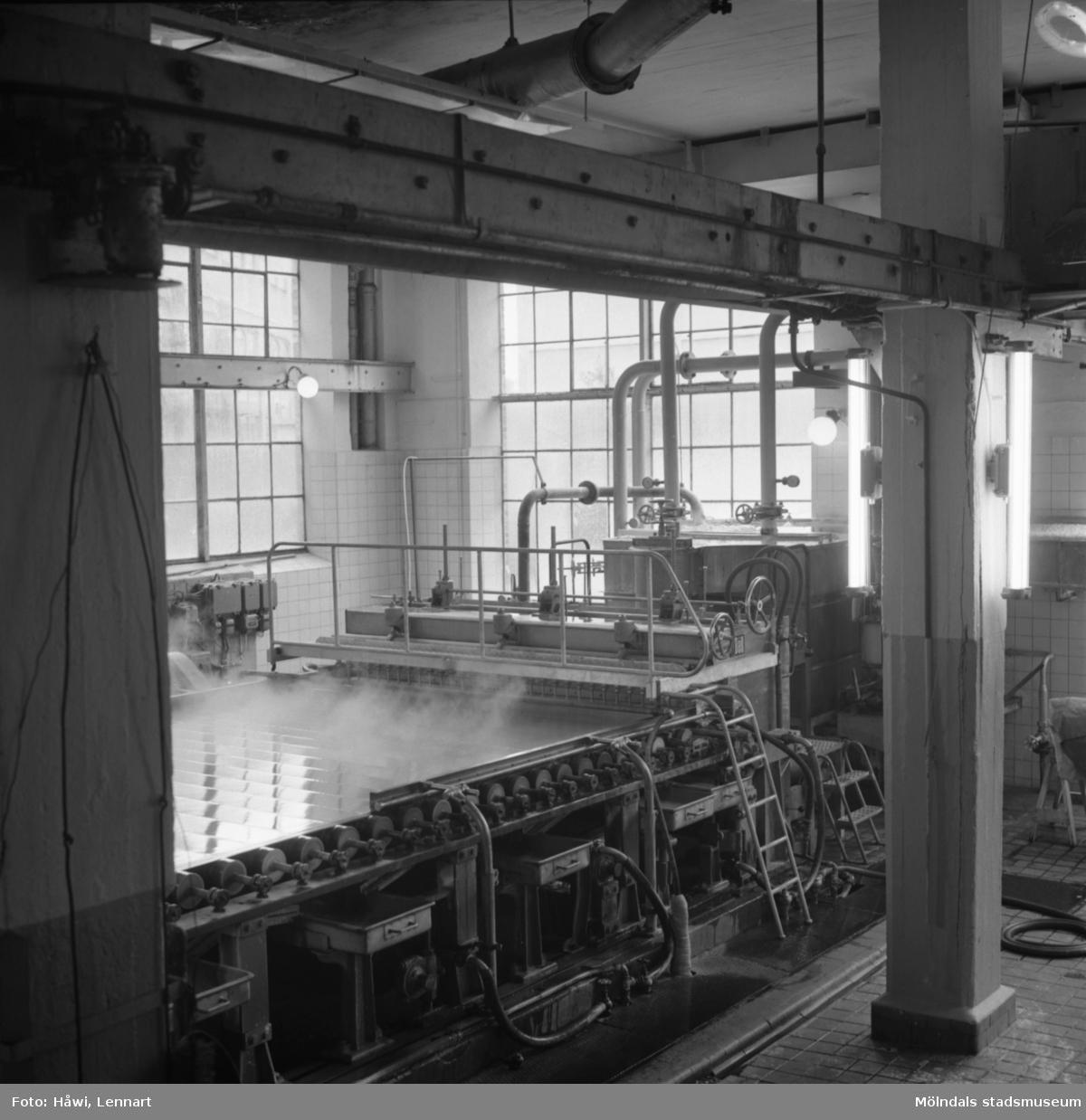 PM12, inloppslåda, monterad 1959. Papyrus i Mölndal 1/10 1959.