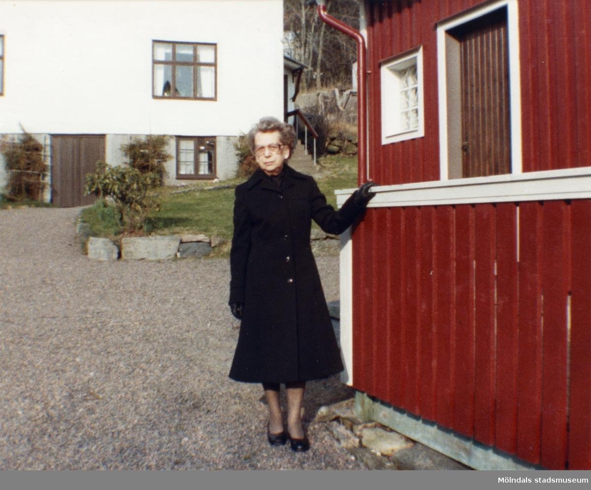 Inga-Lill Börjesson i Vommedal samma månad som maken, Åke Börjessons bortgång.