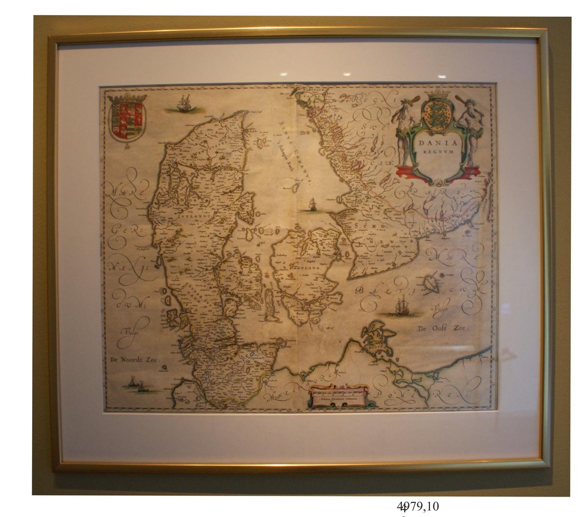 Karta, Dania Regnum. 1600-talet