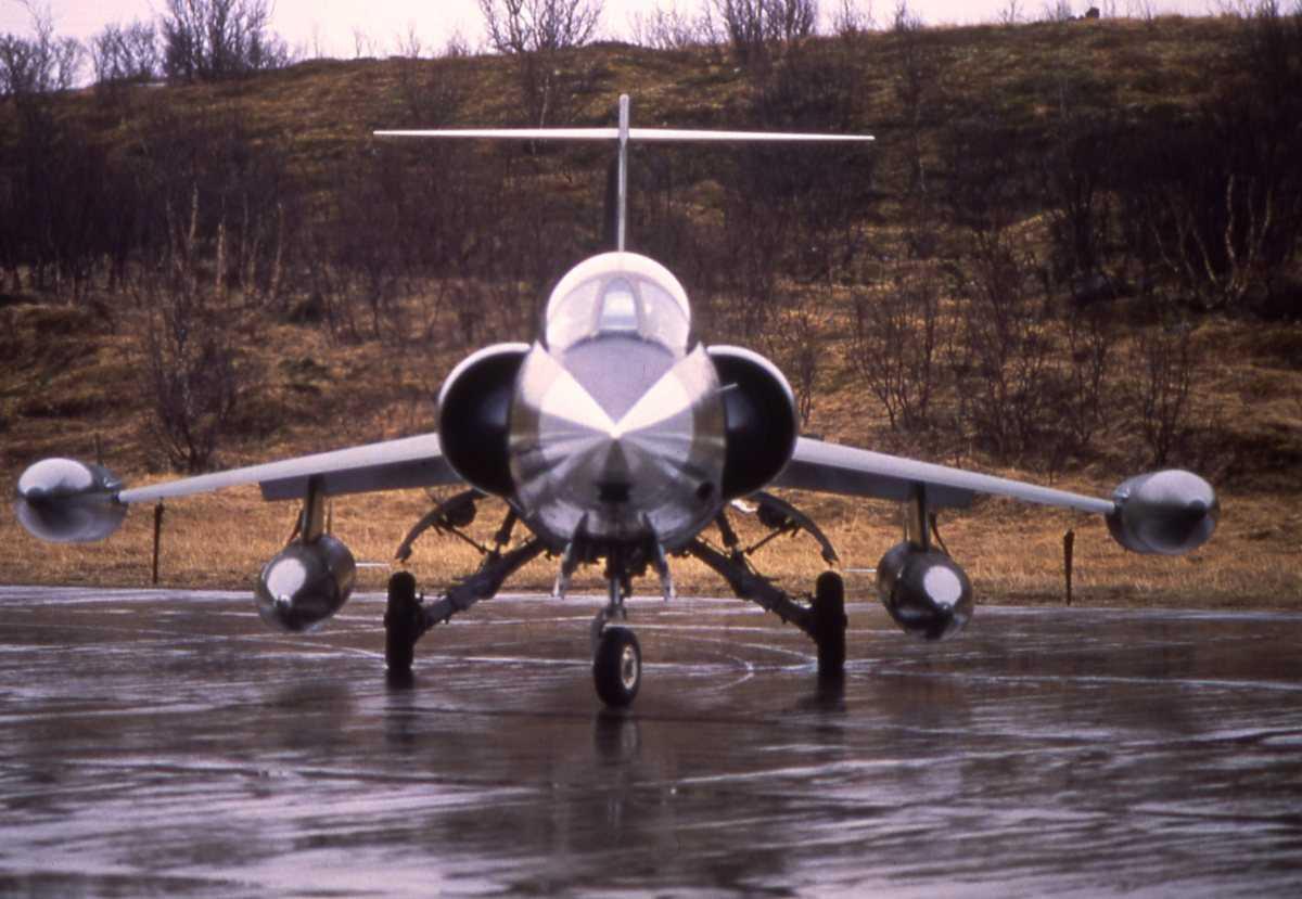 Norsk fly av typen F-104G Starfighter.