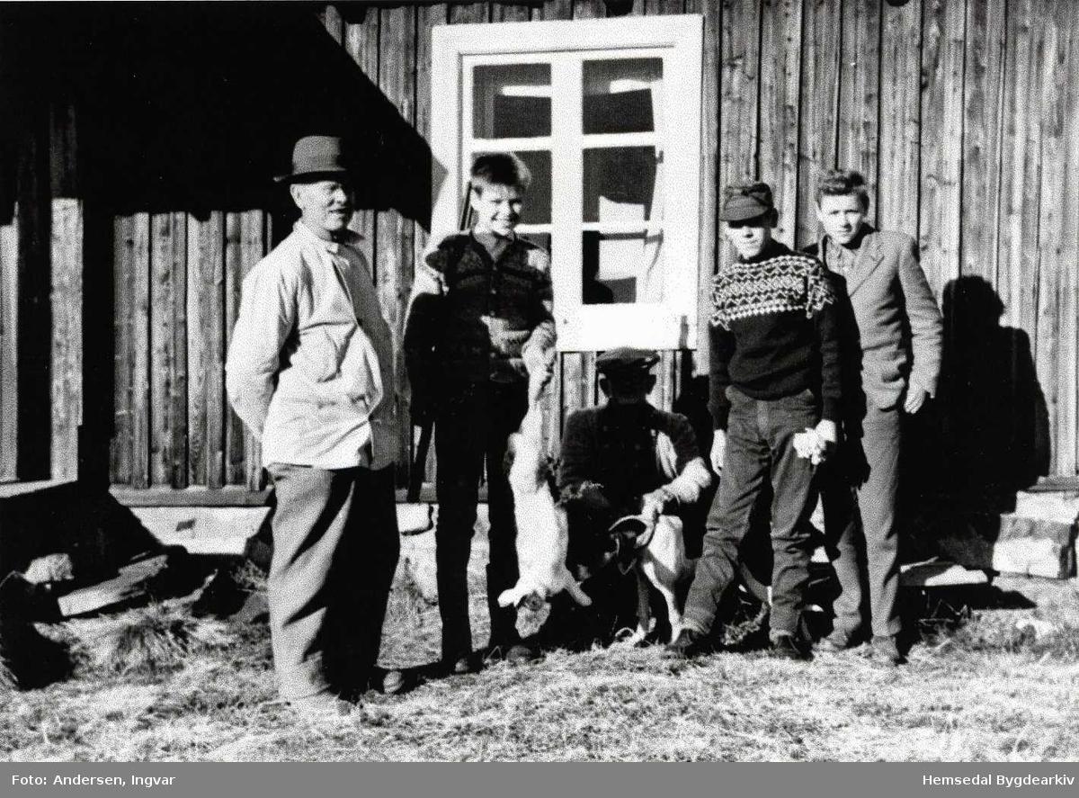 Sjugurd og Syver Hjelmen, Artur Andersen Mjøndalen, Knut Olav Halbjørhus og Kåre Thorset, ca. 1960