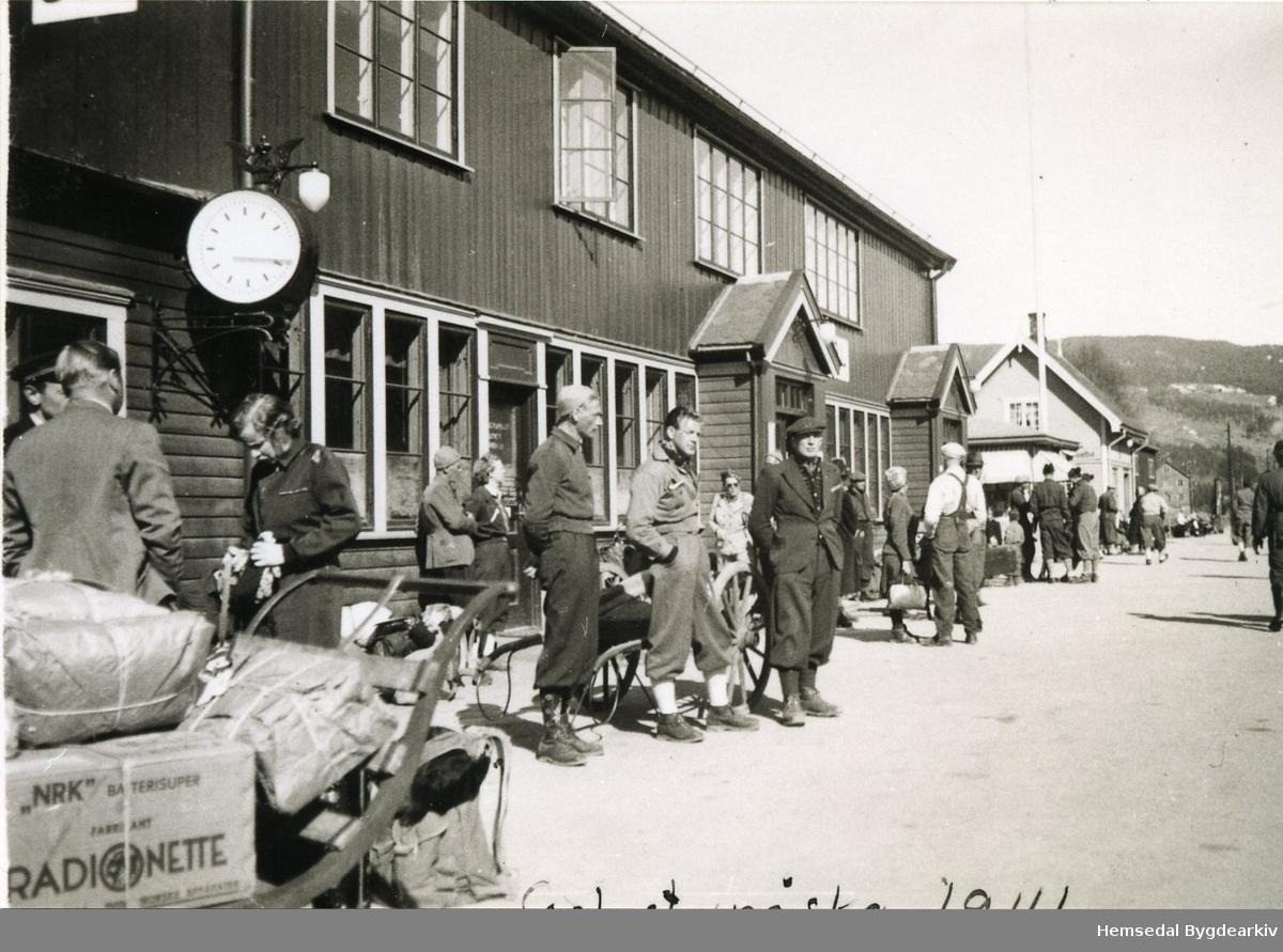 Ukjend jarnbanestasjon påsken 1941