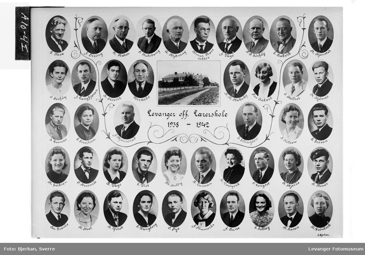 Levanger off. Lærerskole, 1938-42.
