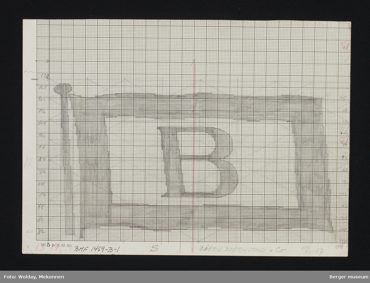 Rederiflagg med bokstav B