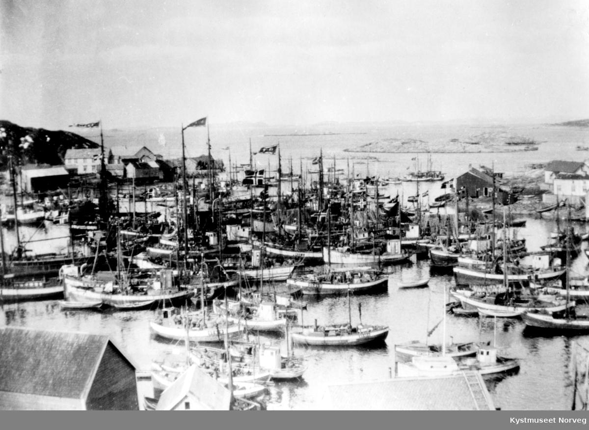 Sør-Gjæslingan, fiskebåter i havn