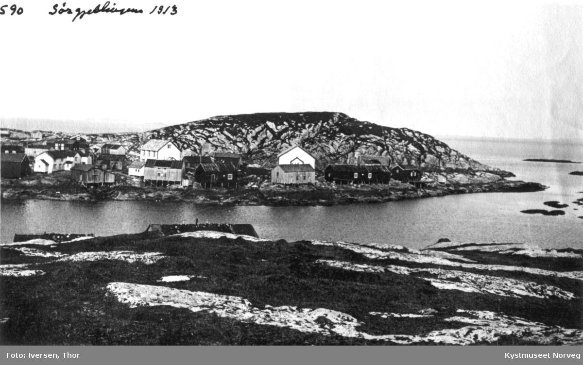"Sør-Gjæslingan, ""Flatholmen"" sett fra ""Heimværet"""
