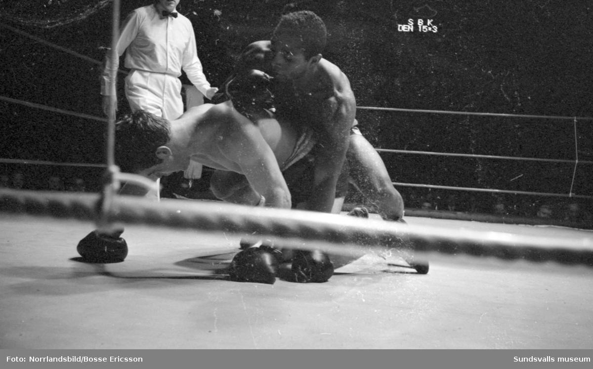 Proboxningar i Sporthallen.