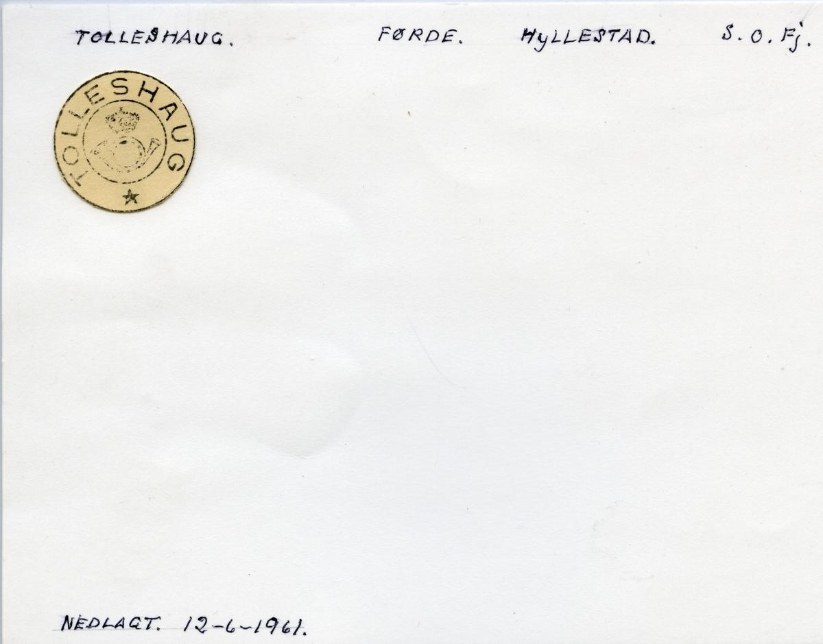 Stempelkatalog Tolleshaug, Radøy, Hordaland
