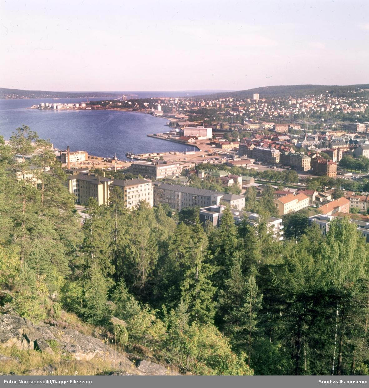 Stenstaden och hamnen fotograferat från Norra berget.