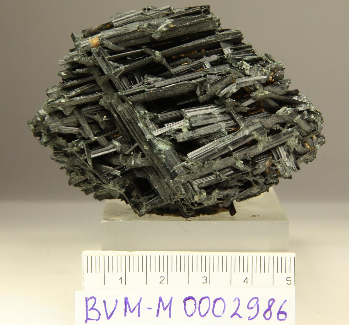 Sammenvoksning av krystaller uten terminering. Ukjent funnsted i Norge.