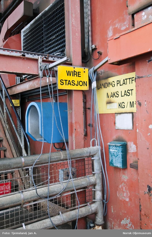 Wirestasjon på Valhall DP.